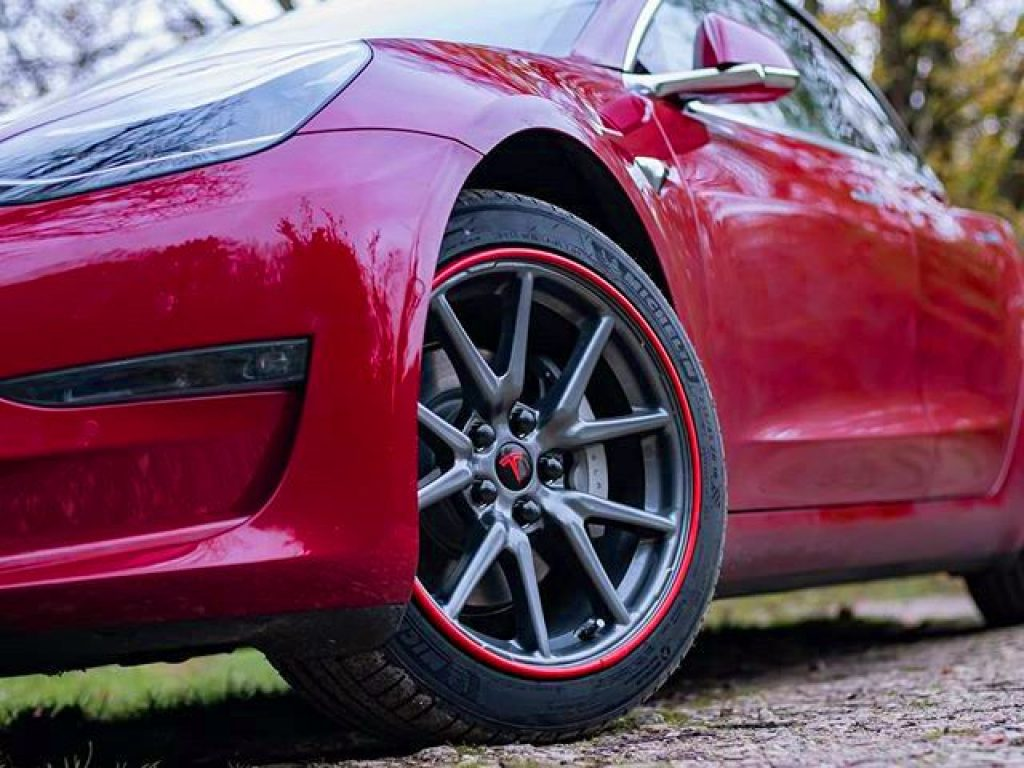 Red Tesla With Red AlloyGators - Instagram Source - Cometm3 copy